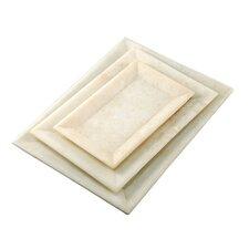 "Fall 3 Piece 8"" Marble Rectangular Plate Set"