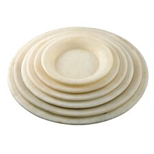 """Fall 6 Piece 5"""" Round Marble Plate Set"""