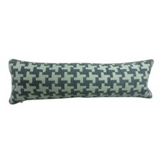 Fall Textile Bolster Houndstooth Pillow