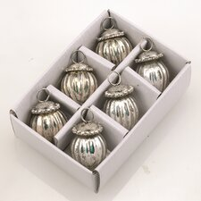 Ornament with Jewel Cap (Set of 6)