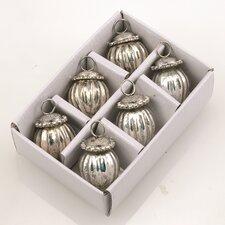 Ornament with Jewel Cap (Set of 6)