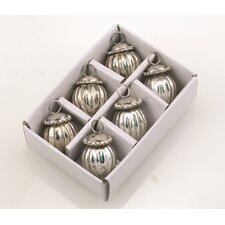 <strong>Barreveld International</strong> Glass Ornaments with Jewel Caps (Set of 6)