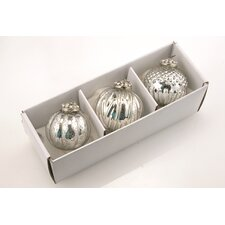 Glass Ornaments (Set of 3)