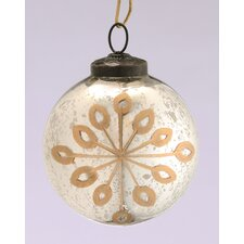 <strong>Barreveld International</strong> Glass Etched Round Ornament