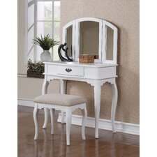Bobkona Vanity Set with Mirror