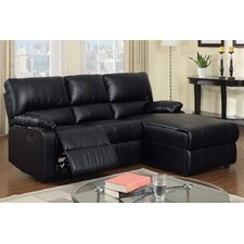 Bobkona Loveseat Recliner Right Chaise