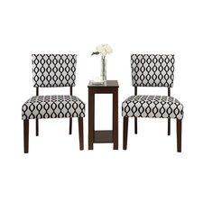 Bobkona 3 Piece Preston Side Chair and Table Set