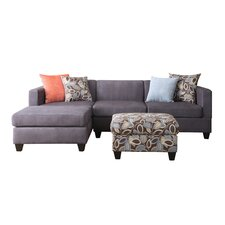 Simplistic Sofa with Chaise & Ottoman