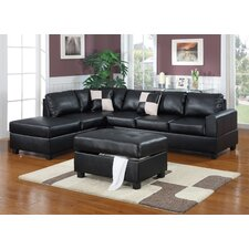 Bobkona 3 Piece Modular Sectional Set with Ottoman