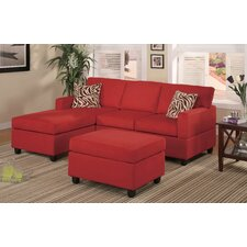 <strong>Poundex</strong> Bobkona Modular 3 Piece Sectional