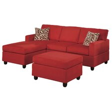 Bobkona Modular Sectional Sofa with Ottoman