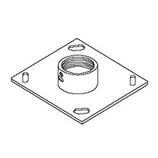 "Ceiling Mounting Plate with 2"" Coupling"