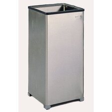 Medium Open Top Stainless Steel Receptacle w/ Rigid Plastic