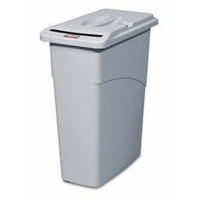 <strong>Rubbermaid Commercial Products</strong> 23-Gal. Slim Jim Confidential Document Rectangle Receptacle with Lid