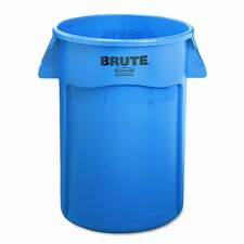 <strong>Rubbermaid Commercial Products</strong> Brute Vented Trash Receptacle, Round, 44 Gal