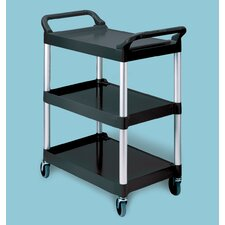 "<strong>Rubbermaid Commercial Products</strong> 38"" Food Service/Utility Cart with Casters and Aluminum Uprights"