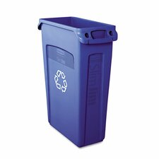 <strong>Rubbermaid Commercial Products</strong> Slim Jim Recycling Container with Venting Channels, 23 Gal