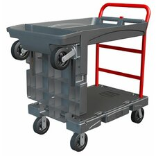 <strong>Rubbermaid Commercial Products</strong> Rubbermaid Commercial - Convertible Platform Trucks Convertible Platform Truck 24X52: 640-4496-Bla - convertible platform truck 24x52