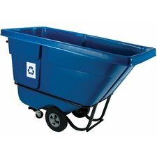 Rubbermaid Commercial - Recycling Tilt Trucks Recycling Tilt Truck Stnd Duty Rotational Molded: 640-1305-73-Blue - recycling tilt truck stnd duty rotational molded