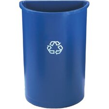 Rubbermaid Commercial - Untouchable Recycling Containers Halfround Recycling Container 21Gal.: 640-3520-73-Blue - halfround recycling container 21gal.