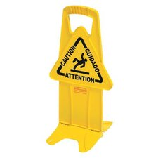 "Floor Safety Signs - yellow stable safety sign w/""caution"" imprint"