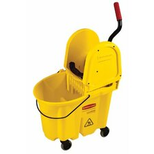WaveBrake® Down Press Combo's - mopping bucket and wringer combination pk-yellow