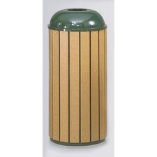 Regent 50 Series 15 Gallon Round Top Waste Receptacle (Set of 3)