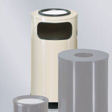<strong>Rubbermaid Commercial Products</strong> Large Steel Sand Top Ash/Trash Receptacle