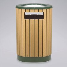 Regent 50 Series 12 Gallon Round Sand Top Ash/Trash Receptacle