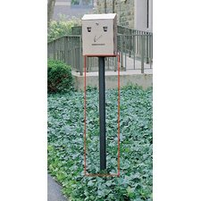 Smokers Stations Black In Ground Pole with Hardware (Set of 5)