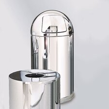 Metallic Designer 12 Gal. Small Round Top Waste Receptacle (Set of 3)