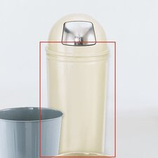 Tall Round Steel Wastebasket (Set of 3)