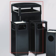 Howard Standard Black 48 Gal. Hinged Top Receptacle
