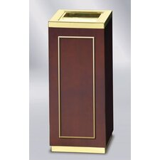 <strong>Rubbermaid Commercial Products</strong> Designer Line Natural Wood Open Top Receptacle