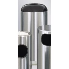 Metallic Designer 15 Gal. Dome-Top Waste Receptacle (Set of 4)
