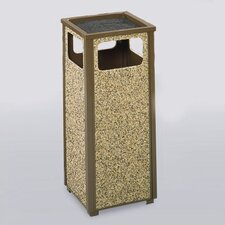Aspen 12 Gal. Sand Top Ash/Trash Receptacle (Set of 2)