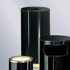 European Designer 15 Gal.  Black/Brass Waste Receptacle (Set of 5)