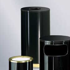 <strong>Rubbermaid Commercial Products</strong> European Designer 15 Gal.  Black/Brass Waste Receptacle