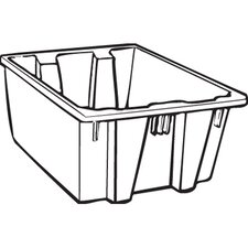 19.45-Gallon Palletote Box in Gray