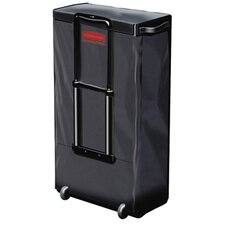 Mobile Fabric Cleaning Cart Bag in Black