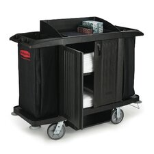 <strong>Rubbermaid Commercial Products</strong> Multi-Shelf Cleaning Cart with 3 Shelves