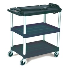 <strong>Rubbermaid Commercial Products</strong> Media Master AV Cart with 3-Shelf in Black