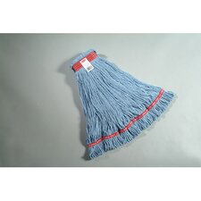 <strong>Rubbermaid Commercial Products</strong> Large Web Foot Wet Mop with Red Headband in Blue
