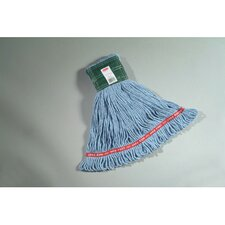 Medium Web Foot Wet Mop with Green Headband in Blue