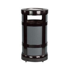 Architek Series Mesh Outdoor Receptacle in Black