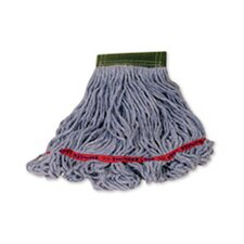 Medium Swinger Loop Wet Cotton/Synthetic Mop Heads in Blue