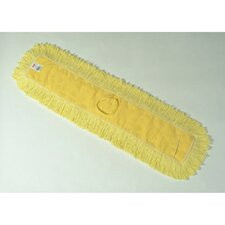 "48"" Trapper Commercial Dust Mop with Looped-End Launderable in Yellow"