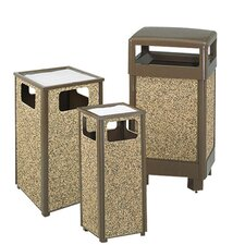 Aspen Series Sand Urn / Litter Square Receptacle in Brown