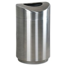 <strong>Rubbermaid Commercial Products</strong> Eclipse Open Stainless Steel Top Waste Receptacle