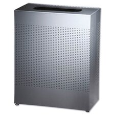 <strong>Rubbermaid Commercial Products</strong> 40 Gallon Designer Line Silhouettes Square Steel Receptacle in Silver
